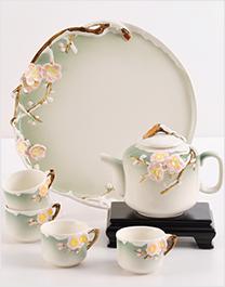 雪中梅陶瓷功夫茶具